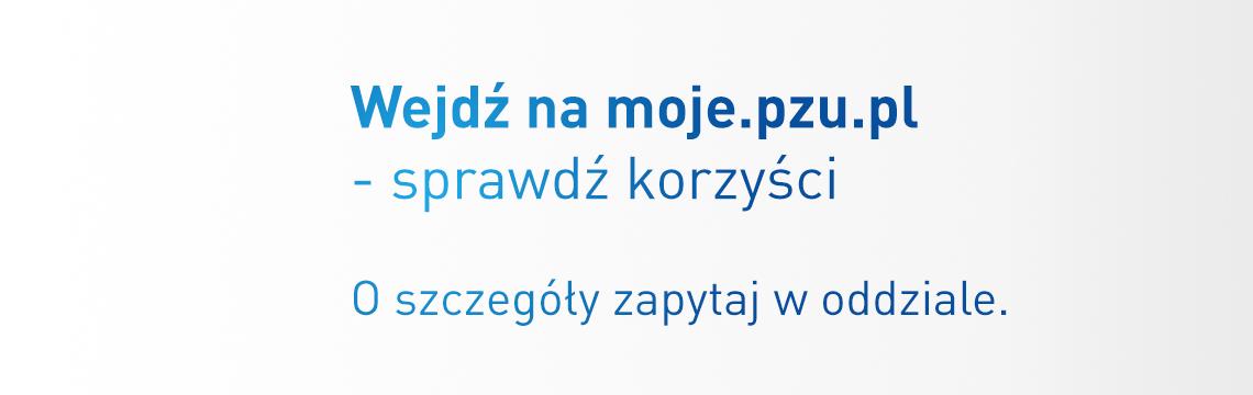 Wejdź na moje.pzu.pl - sprawdź korzyści